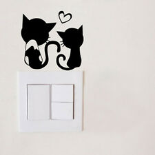1 Pcs Black Cute Switch Sticker Cat Lovers Pattern Bedroom Parlor Wall Sticker