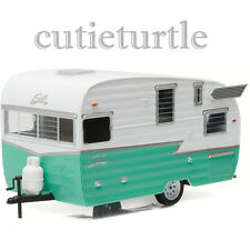 Greenlight Shasta 15' Airflyte Trailer Diecast Model 1/24 18227 Green