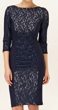 BNWT Phase Eight /8 Navy Stephania  Lace Dress Size 10