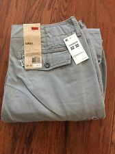 Levi's New Men's Ace Cargo Pants 30 x 30 Relaxed Fit Gray Trousers 100% Cotton