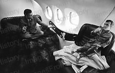8x10 Print Hugh Hefner Poses with Doll of Himself Aboard Playboy Jet #1008231A