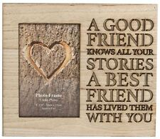 """Wooden Picture Photo Frame Cut Out Words Friends Gift 6""""x4"""" Home Wall Decoration"""