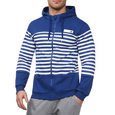 adidas Mens Stripe Hoody Hoodie Sweater Sweatshirt Jumper Top - Medium - B GRADE