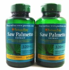 2X SAW PALMETTO Standardized Extract 320 mg 120 Gels