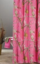 REALTREE AP FUCHSIA HOT PINK CAMOUFLAGE SHOWER CURTAIN - CAMO BATH ACCESSORIES