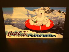 """1996-Coca~Cola, """"Polar Bears"""" - """"Widevision"""" - """"Subset Chase Card"""" - PB-5."""
