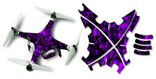 DJI Phantom 2 Drone Wrap RC Quadcopter Decal Custom Skin Accessory Purple Flames