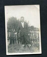 C1950's Original Photo of a Man in a Suite, Wellington Books & Walking Stick