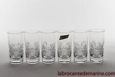 Série de six chopes Serpentine en Baccarat.  highballs Serpentine