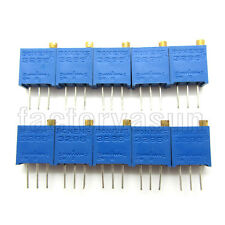 10PCS 500K Ohms 3296 3296W  Trimmer Potentiometer Pot Variable Resistor 504