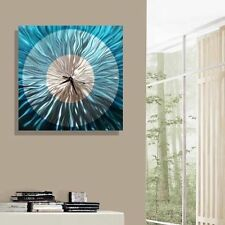 Beautiful Blue Wall Clock, Large Hand-Painted Functional Art - Aquatica Clock