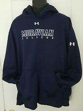 Under Armour Mens Moravian College Hoodie Sweatshirt Size XXL Hooded EUC