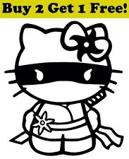 Hello Kitty Ninja Decal Sticker Car Bumper Window Wall Cute Cat Full Mask