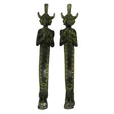 Black Door Handle Human Design Brass Metal Hand Carved Decorative Figurine