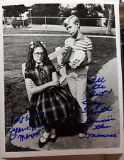 Dennis Menace Autograph 8x10 Photo Signed by Dennis/Margaret-FREE S&H (LHAU-261)