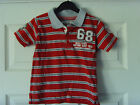 Red & Grey Boy's Short Sleeved Polo Shirt Age 2-3 yrs