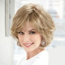 Ladylike Curly Fluffy Short Dark Blonde Hair Wig For Women