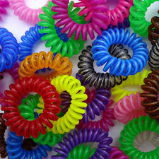 10 Spiral Slinky Hair Elastics Bobbles Ties Head Bands Scrunchies Accessory Rope