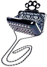 TOO FAST BAG PURSE STUDDED ROCKABILLY PINUP STUDS  CASE GOTHIC EMO GOTH SPIKES