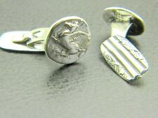 Cufflinks Pegasus sterling silver antique style reproduction from Greek coin