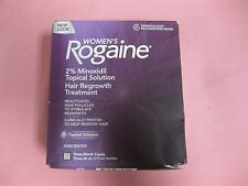 Rogaine Women's 2% Minoxidil Topical Solution Hair Regrowth Treatment 3x60mL NEW