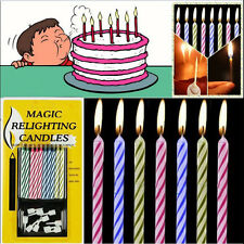 10X Prank Candle Magic Trick Relighting Candle Birthday Cake Party Gag Joke LWC