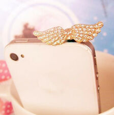 1pc New Angle Wings Anti Dust Earphone Plug Cover Stopper Cap For Phone