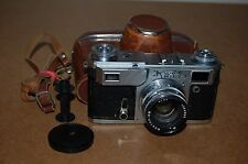 Kiev-4A (Type 2) Vintage 1973 Rangefinder Camera With Cap and Case. No.7302735