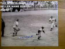 PHIL RIZZUTO NEW YORK YANKEE SIGNED 16X20 SQUEEZE PLAY SCORING JOE DiMAGGIO 1951