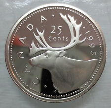1995 CANADA 25 CENTS PROOF QUARTER COIN - A