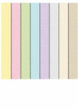 24 SHEET CREATIVE PAPER PACK, PASTEL DOTS, A5+, 155 X 215MM, 120GSM, acid free