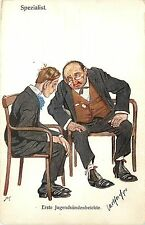 C1910 Postcard German Doctor, Boy Confesses to Specialist (reference to sex?)