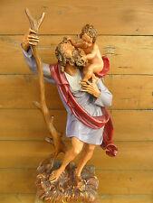 San Giuseppe con Gesu dipinta a mano in legno datata dic.1889