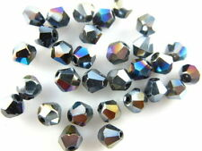 New 100Pcs Crystal Glass Bicone Faceted Beads Spacer Jewelry Findings 6mm