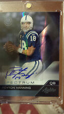 2011 Absolute Spectrum Platinum Parallel Peyton Manning Auto 1/1 OMAHA