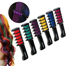 6pcs Easy Temporary Fast Colors Hair Chalk Dye with Comb Soft Hair Pastels Kit