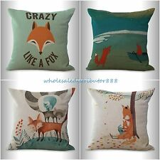 4pcs decorative bed pillows wholesale cushion covers cartoon fox animal