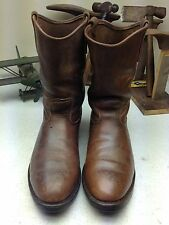 RED WING DISTRESSED BROWN LEATHER USA ENGINEER OIL RIG BOOTS 13 D