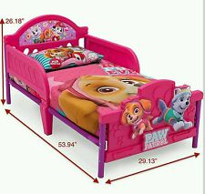 Nick Jr Paw Patrol Skye and Everest 3D Toddler Bed - Brand New