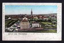 110563 AK Weinböhla 1902 Straße Haus mit Garten Kirche