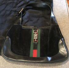 Gucci Black Suede Jackie Shoulder Handbag