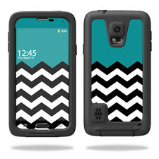 Skin Decal Wrap for LifeProof Samsung Galaxy S5 Case Case Teal Chevron