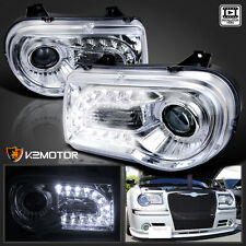 2005-2010 Chrysler 300C Chrome LED DRL Strip Projector Headlights