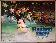 Cinema Poster: FLUSHED AWAY 2006 (Jetski Quad) Kate Winslet Hugh Jackman