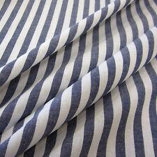 Stoff Meterware Baumwollstoff Streifen gestreift marine blau navy weiß 1 cm
