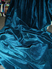 1 MTRS TEAL BLUE VELVET / VELOUR FABRIC WITH  STREATCH 58INCHES WIDE