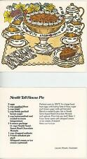 1 TEA POT TEA CUP SAUCER PIE RECIPE CARD & FLOWERS 1 VILLAGE FLOWER GARDEN CARD