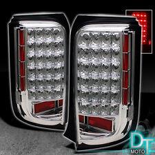 08-10 Scion Xb Chrome Clear Full Led Tail Brake Lights Lamps