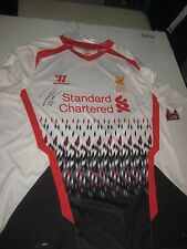 RAHEEM STERLING HAND SIGNED 2013-14 AWAY JERSEY UNFRAMED + PHOTO PROOF + C.O.A
