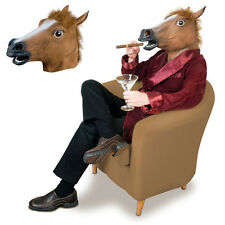 Creepy Horse Mask Animal Costume Prop Toy Halloween Costume Novelty Latex Rubber